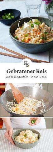 Gebratener Reis nach chinesischer Art