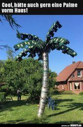 Cool, hätte auch gern eine Palme vorm Haus!..   Lustige Bilder, Sprüche, Witze…