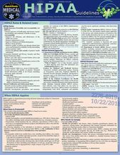 QuickStudy   HIPAA Guidelines Laminated Reference Guide