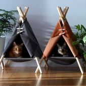 A very modern cave where your cat can hide and stay in an environment