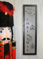 Photo of Es war die Nacht vor Weihnachten, Weihnachtsholzschild, Weihnachtsgeschenk Holzschild Sprüche Bauernhaus Chris