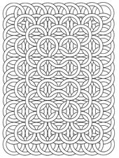 Get the coloring page: Circle loops | 50 Printable Adult Coloring Pages That Will Help You De-Stress During the Holidays