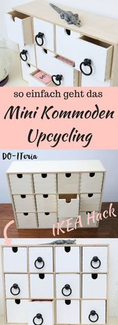 Ikea Hack: schickes Upcycling einer Mini Kommode