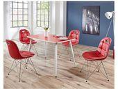 Design Esszimmergruppe in rot und weiß modern (5 Stück)   – Products
