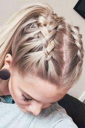 53 Einfache Frisuren für mittellange Frisur  53 simple hairstyles for medium length hairstyle,  #Einfache #Hairstyle #Frisuren #For #mit