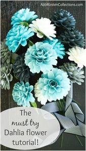 Wie man Papierdahlienblumen macht: Kleines Papierblumen-Tutorial – Party Decoration Ideas and Fun!