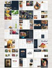 Libro de cocina y plantilla de recetas para Adobe InDesign   – Schriftarten