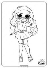 Lol Surprise Omg Class Prez Doll Coloring Page Cool Coloring Pages Tangled Coloring Pages Cute Coloring Pages