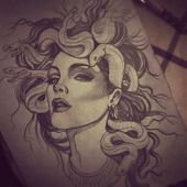 Dope Medusa Skizzenzeichnung von Natcha  #medusa #natcha #skizzenzeichnung