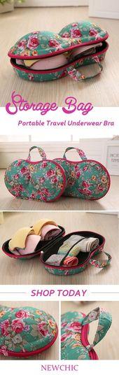 Portable Travel Unterwäsche BH Aufbewahrungstasche Aufbewahrungsbox für Frauen…