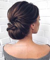 Belles coiffures de mariage pour la mariée élégante   mariée chignons coiffures #w …   …