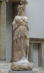 Statue Of Athena Parthenos From The Library Of Pergamon Pergamon Museum Berlin Pergamon Museum Berlin Pergamon Museum Statue