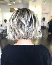 Aschblond auf asiatischem Haar der Stufe 1 … @brazilianbondbuilder # btconeshot_hairpaint16 # btconeshot_ombre16 # btconeshot_transformation16
