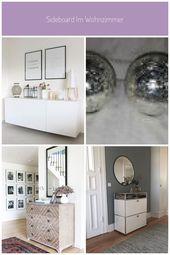 Sideboard im Wohnzimmer #Dekoration kommode flur