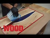 How to make a flow table for epoxy resins – WOOD magazine – YouTube  – Craft ideas  – Epoxy Crafts