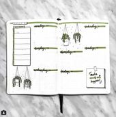 25+ Houseplant-Inspired Bullet Journal Layouts