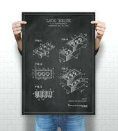 Lego Brick Patent Print, Lego Spielzeug Blueprint, Lego Digital Image, Lego Instant Do …   – lego illustration
