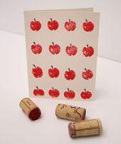 Wine Cork Stamp Rosh HaShana Cards