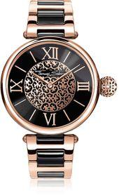 Thomas Sabo Karma Rose Gold and Black Stainless Steel Women's Watch