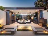 Design von modernen Außenküchen, perfekt für Ihren Garten