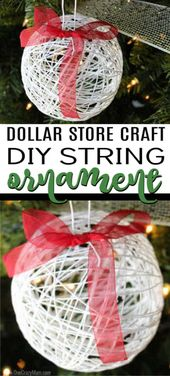 DIY Christmas Ornaments – Wie man ein String Ornament macht