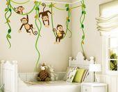 Bilderwelten Wandtattoo »Affenbande«, Wandtattoo aus selbstklebender, glatter Wandfolie online kaufen