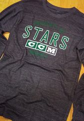 47 Dallas Stars Mens Black Wordmark Scrim Track Jacket  eedb27fb0