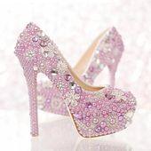 Gorgeous bridal shoes Rhinestone Pumps Beautiful L…