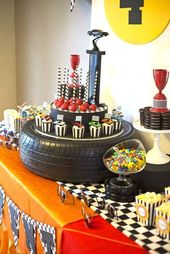 Race Car Birthday Party Ideas | Photo 5 of 10 | Catch My Party