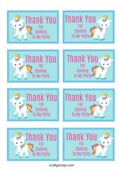 Free Printable Unicorn Party Gift Tag