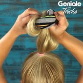 30-second hairstyle with sock #peinadosparacabellorizado 30-second hair with sock #beauty #haare #fast
