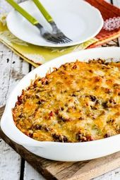 Cheesy Low-Carb Taco Casserole (Video) – Kalyn's Kitchen