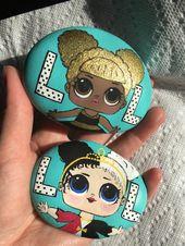 LOL Surprise doll art rock paintings – cartoon character's