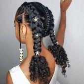 Kreative Frisur-Ideen für süße kleine Mädchen, die Sie lieben werden – FashionGHANA.co …   …