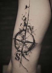 55 increíbles tatuajes de estrellas náuticas con significados   – Tattoos