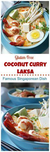 Gluten-Free Coconut Curry Laksa / bamskitchen.com