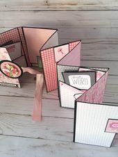 Scrapbook, Pink Baby Photo Album, Babies First Year Memory Album, Journal Baby Book, Girl – Fotoalben