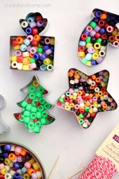 DIY Christmas tree making ornaments with your kids