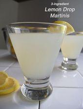 Sie müssen dieses Zitronenbonbon-Martini-3-Zutaten-Rezept probieren, es ist super einfach und de …