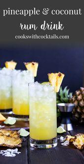 Diese Ananas-Kokos-Rum-Drinks sind wie der Sommer in Ihrem Glas! Wir beinhalten…   – GOTL drink of the day