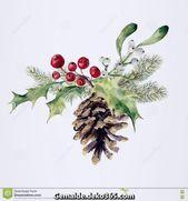 Einzigartige und Kreative Aquarell-Tannenzapfen-Weihnachten-Dekor-Pin-Konus-Weihnachtsbaum-Zw…