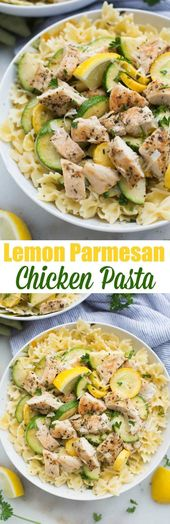 Lemon Parmesan Chicken Pasta