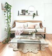 Shelf above the couch / sofa with art and plants. h_and_g_designs – #abovecouch…, #abovec…