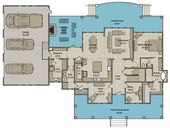 4-Bed Modern Farmhouse Plan with Front and Back Covered Porch
