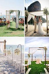 arche Une cérémonie de mariage avec vue sur la mer