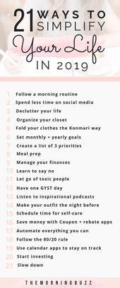 Freuen Sie sich auf ein großartiges Jahr mit diesen 21 einfachen Wegen, um Ihr Leben zu vereinfachen.