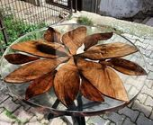 44 Amazing Resin Wood Table Home Furniture Ideas  – Wood art   – Epoxy Crafts