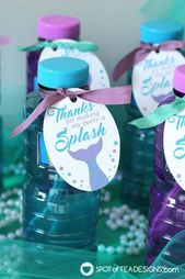 Mermaid Party Printables for the dessert table and party favors