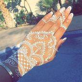 White henna designs: an innovative interpretation of traditional body art! – Fashion blog