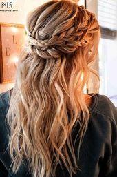 20 coiffures simples mignonnes pour cheveux longs